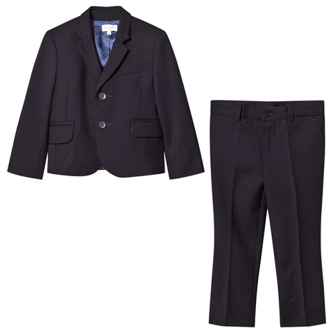 Paul Smith Junior Navy Travel Wool Suit (MINI ME)