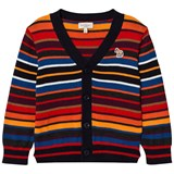 Paul Smith Junior Red and Orange Striped Cardigan