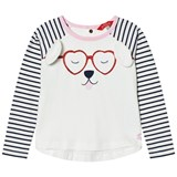 Joules Cream Dog Print and Applique Tee