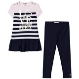 Juicy Couture Navy Striped Dress and Leggings Set