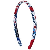 Oscar De La Renta Red and Blue Floral Headband
