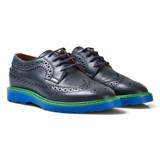 Paul Smith Junior Navy Leather Brogues with Contrast Detail