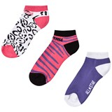 Converse 3 pack of pink pattern socks