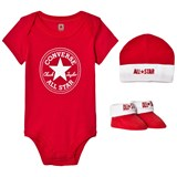 Converse Red set red body, hat and booties