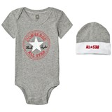 Converse Grey set body, hat and booties