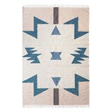 ferm LIVING Kelim Rug - Blue Triangles - Large