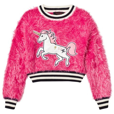 Juicy Couture Hot Pink Fluffy Unicorn Sweatshirt