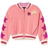 Juicy Couture Pink Knit Unicorn and Star Logo Bomber Jacket