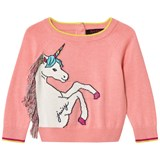 Juicy Couture Pink Unicorn Knit Intarsia Jumper