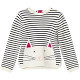 Joules Cream and Navy Cat Intarsia Jumper