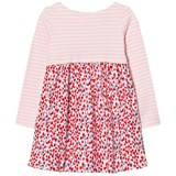 Joules Pink Stripe and Heart Print Jersey Dress