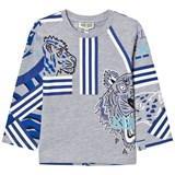 Kenzo Kids Grey All Over Icons Print T-Shirt