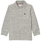 Lacoste Grey Marl Long Sleeve Jersey Polo