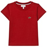 Lacoste Red Branded Jersey Tee