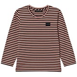 Acne Studios Pale Pink and Black Stripe Mini Napa Face T-Shirt
