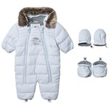 Timberland Kids Pale Blue Puffer Hooded Snow Suit