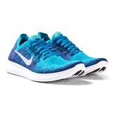 Nike Blue Boys Free RN Flyknit 2 Junior Running Shoe