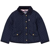 Joules Navy Quilted Jacket with Floral Lining