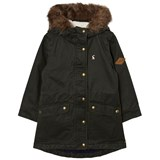 Joules Khaki Parka with Detachable Faux Fur Hood