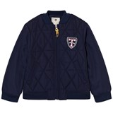 Timberland Kids Navy Quilted Bomber Jacket