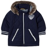 Timberland Kids Navy Padded Parka with Faux Fur Hood