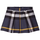 Burberry Navy Check Kittie Skirt
