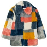 Stella McCartney Kids Multi Colour Faux Fur Abbie Coat