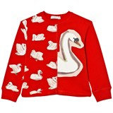 Stella McCartney Kids Red Swan Print June Sweatshirt