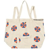 The Animals Observatory Canvas Tote Bag Raw White Umbrellas