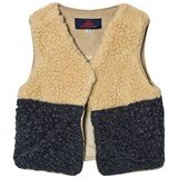 The Animals Observatory Lamb Kids Vest Navy Blue