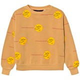 The Animals Observatory Yellow Faces Bear Kids Sweatshirt