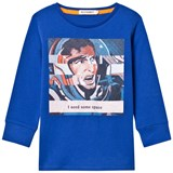 Billybandit Blue Cartoon Print Need Some Space Tee