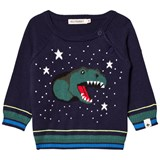 Billybandit Navy Dinosaur Knitted Jumper