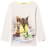 Billybandit White Cat and Fish Print Tee
