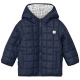 Carrément Beau Navy Square Quilted Hooded Puffer
