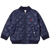Ralph Lauren Navy Quilted Baseball Jacket