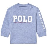 Ralph Lauren Pale Blue Long Sleeve Polo Graphic Tee