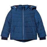 BOSS Blue Padded Puffer Coat