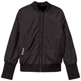 DKNY Black Reversible Bomber Jacket into Faux Fur