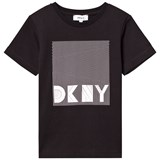 DKNY Black Branded Graphic Tee