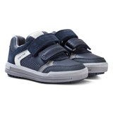 Geox Navy Suede Jr Arzach Velcro Trainers