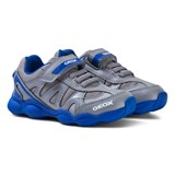 Geox Grey and Blue Junior Munfrey Velcro Trainers
