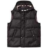 Burberry Black Carlton Down Puffa Hooded Gilet