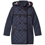 Burberry Navy Theresa Quilted Long Line Coat