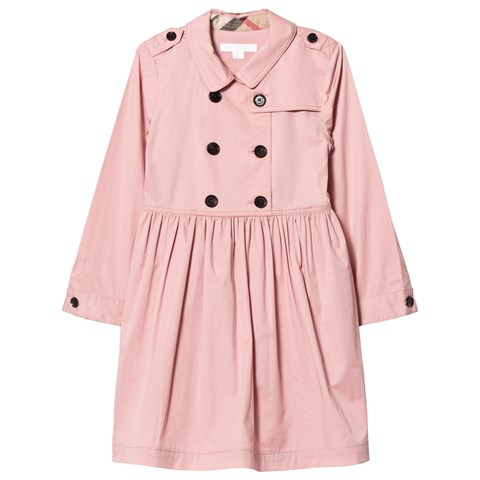 Burberry Pink Lillyana Long-Sleeved Trench Coat Dress