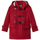 Burberry Parade Red Burwood Wool Duffle Coat with Check Lining