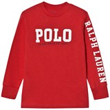 Ralph Lauren Red Polo Print Long-Sleeved Tee