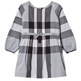 Burberry Dusty Blue Agnes Long Sleeve Shirt Dress