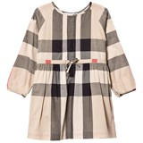 Burberry Beige Classic Check Agnes Long Sleeve Shirt Dress