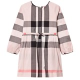 Burberry Antique Pink Agnes Long Sleeve Shirt Dress